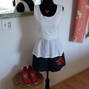 Imaginary voyage white peplum top
